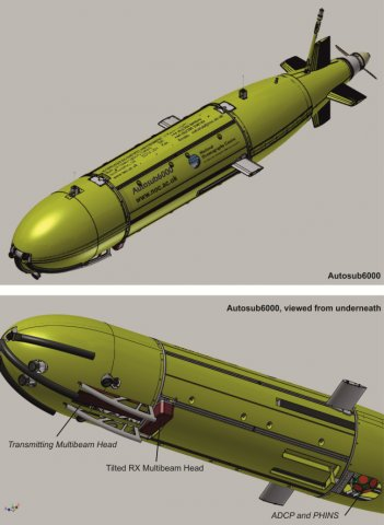 Engineering drawings of autosub