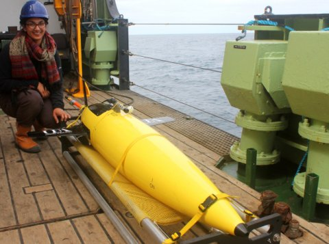 Saying goodbye to the seaglider before it was deployed