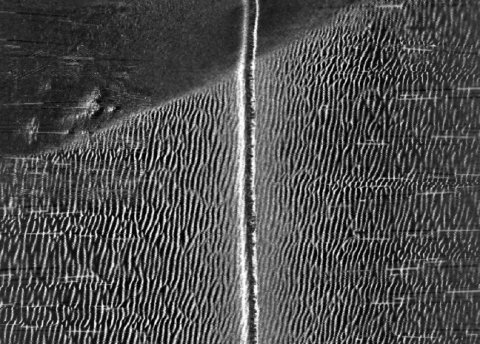Migrating sand waves imaged on the seabed using the sidescan sonar system on Autosub6000.