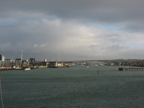 The Itchen Bridge, seen from Southampton Water